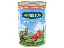 Консервы с говядиной и печенью Winner Plus Super Premium Cat 395 г (100045-2)