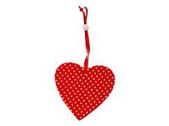 """Елочная игрушка """"Сердце"""" Coincasa 8х8,5см Красный, Белый 971684399"""