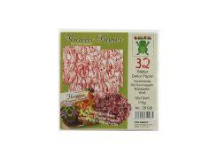 Бумага для оригами (32шт) Nice Paper 10х10см Белый, Красный