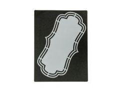 """Трафарет для творчества """"Фигурная рамка"""" Dutch Doobadoo 20,5х11см Серый, Черный"""