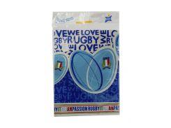 """Скатерть """"Italia"""" 120х180см BBS 120х180см Голубой, Синий, Белый"""