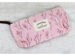 Косметичка-пенал Lifestyle Розовая с деревьями (hub_ChRp52223)