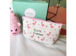 Косметичка Cute Flamingo Белая (hub_gOps61204)