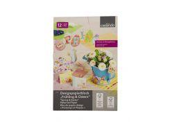 Набор бумаги для дизайна (12шт) Crelando 21х30,5см Разноцветный (DI66976755011)