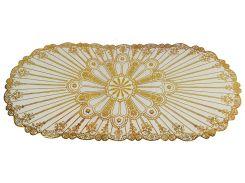 Овальная салфетка с золотым декором 83х40 см (CZ275156)