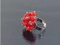 Кольцо sherl чешский хрусталь Красный (кл-чшх-003)