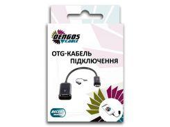 Кабель DENGOS OTG USB 2.0, micro-USB, білий (S-K07-WHITE)