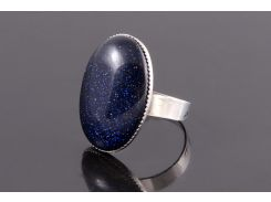 Кольцо sherl авантюрин Темно-синий (кл-авн-035)