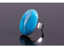 Кольцо sherl бирюза Голубой (кл-брз-014)