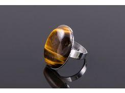 Кольцо sherl тигровый глаз Черно-коричневый (кл-тгр-005)