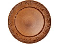 Тарелка Gorshki с декором 25 см Темно-коричневый (000002625)
