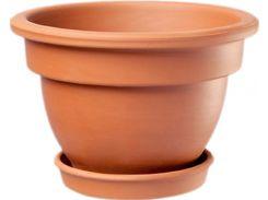 Горшок для растения ТЕРРА Рельефный 13 х 17 см Коричневый (000001394)