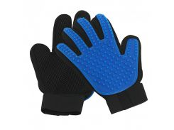 Перчатка для вычесывания шерсти True Touch Черно-синяя (2852-9124)