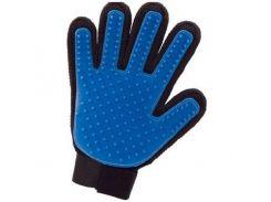 Перчатка для вычесывания шерсти Спартак True Touch Черно-синяя (005985)