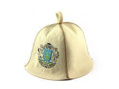 Банная шапка Luxyart Герб Украины Белый (LA-371)