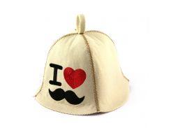 Банная шапка Luxyart I love hipster Белый (LA-385)