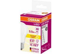 Лампа LED Osram CL A LS 40 5,5W/827 230V FR E27