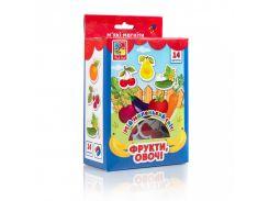 Мой маленький мир на магнитах Vladi Toys Овощи, фрукты VT3106-11 укр