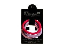 Набор резинок (3шт) Claudine D=5см Малиновый, Сиреневый, Розовый (DI66995926219)
