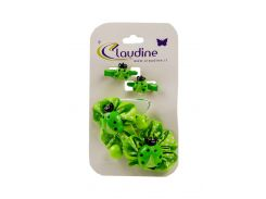 Набор резинок и заколок для волос (4шт) Claudine Uni Зеленый, Черный, Белый (DI66995926220)