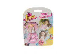 """Набор стикеров """"Soy Luna"""" (4шт) Disney 5,5х5,5см Розовый, Голубой, Желтый (DI66930713509)"""