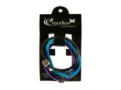 Набор резинок (3шт) Claudine D=6см Черный, Фиолетовый, Голубой (DI66995926284)