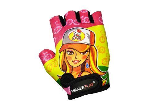 Велорукавички PowerPlay 5473 XS Barbie (5473Barbie_XS_Yellow)