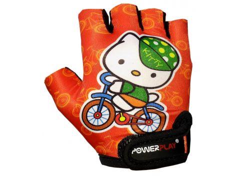 Велорукавички PowerPlay 5473 Kitty Помаранчеві 4XS (FO835473Kitty_4XS_Orange)
