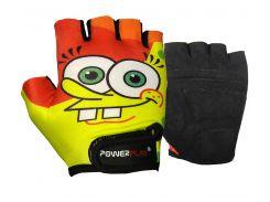 Велорукавички PowerPlay 5473 Sponge Bob жовто-помаранчеві XS
