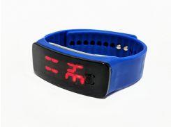 Часы детские на силиконовом ремешке Led Clock Blue (694829820)