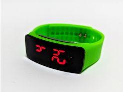 Часы детские на силиконовом ремешке Led Clock Green (694829819)
