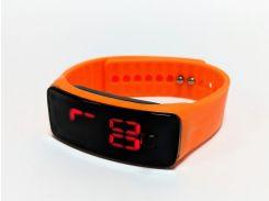 Часы детские на силиконовом ремешке Led Clock Orange (694829824)