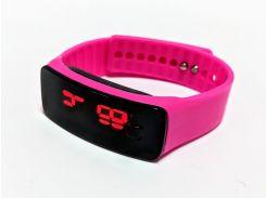 Часы детские на силиконовом ремешке Led Clock Pink (694829821)