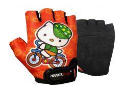 Велорукавички PowerPlay 5473 Kitty Помаранчеві 3XS (FO835473Kitty_3XS_Orange)