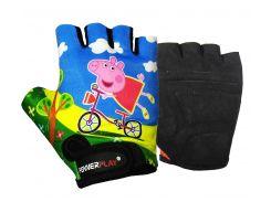 Велорукавички PowerPlay 5473 Peppa Pig голубі XS (FO835473Pepa_XS_Blue)