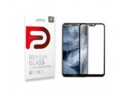 Защитное стекло Armorstandart Full Glue для Nokia 5.1 Plus Black (ARM54221-GFG-BK)