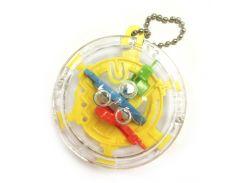 Брелок головоломка Шар-лабиринт Kronos Toys 30 шагов Желтый (krut_0085_1)
