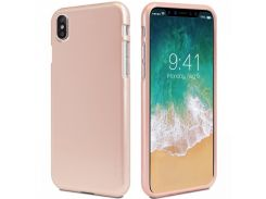 TPU чехол Mercury iJelly Metal series для Apple iPhone X / XS Rose Gold (67104)