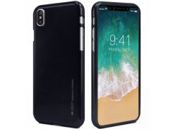 TPU чехол Mercury iJelly Metal series для Apple iPhone X / XS Черный (67113)