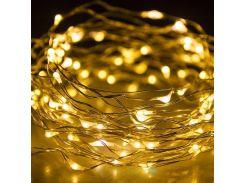 Светодиодная гирлянда нить LTL 10 м 100led на батарейках золотая теплая Warm Gold (796243831)