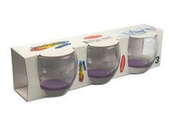 Набор стаканов (3 шт) Barrel 0,34л Прозрачный, Фиолетовый (DI66930714558)