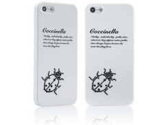 Чехол Star5 Insect Story Coccinella White with Swarovski для iPhone 5/5S/SE