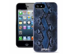 Чехол Just Cavalli Macro Python для iPhone 5/5S/SE Blue
