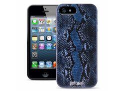 Чехол Just Cavalli Macro Python для iPhone 4/4S Blue