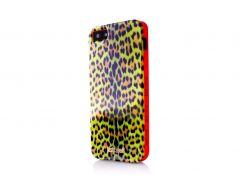 Чехол Just Cavalli Macro Leopard для iPhone 5/5S/SE Yellow