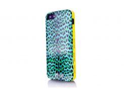 Чехол Just Cavalli Macro Leopard для iPhone 4/4S Blue