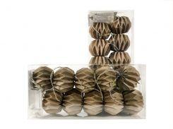 Гирлянда Decorino Capuccino Paper Balls 10led 7.5х235см на батарейках АА (hub_mfEL52132)