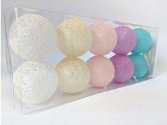 Гирлянды Cotton Balls 10led 6х180 см #8 (CB4)