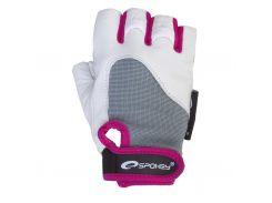 Женские перчатки для фитнеса Spokey ZOLIA M Бело-фиолетовые (s0448)