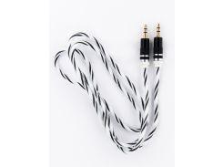 Аудио-кабель DENGOS AUX 3,5 мм-3,5мм (нейлон/белый) (AUDIO-PLS-SKRUT-WHITE)